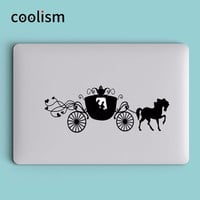 Cinderella Pumpkin Carriage Laptop Decal Sticker for Macbook Decal Air 13 Pro Retina 11 12 15 inch Mi Book Skin Notebook Sticker