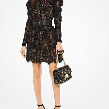 MICHAEL MICHAEL KORS Scalloped Floral Lace Dress Style# MH78XME92T