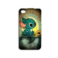 Disney Lilo Stitch Cute Phone Case Turtle Cover iPhone iPod Funny Cool Fun