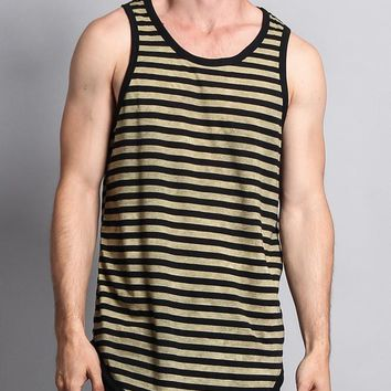 Mineral Wash Stripe Tank-Top TT60 - H14D