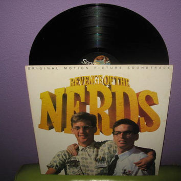 Rare Vinyl Record Revenge of the Nerds Original Soundtrack LP 1984 Campus Comedy Classic