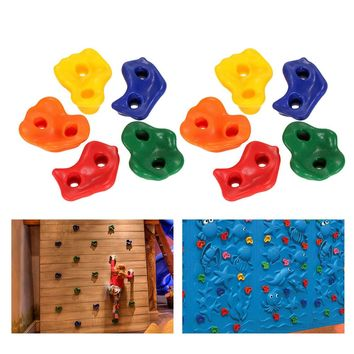 5/10 PCS Rock Climbing Holds Wall Rock Climbing Stones Plastic Backyard Outdoor Indoor Kids Toys with Mounting Hardware Screws