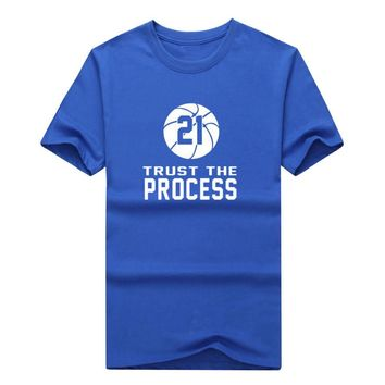 More Color Joel Embiid Philadelphia Trust The Process T-shirt 100% cotton 76ers T shirt 0305-9