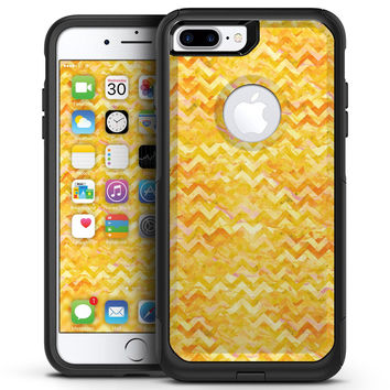Yellow Basic Watercolor Chevron Pattern - iPhone 7 or 7 Plus Commuter Case Skin Kit