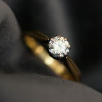 Antique Solitaire Diamond Engagement Ring by Ruby Gray's | Ruby Gray's Antique & Vintage Rings