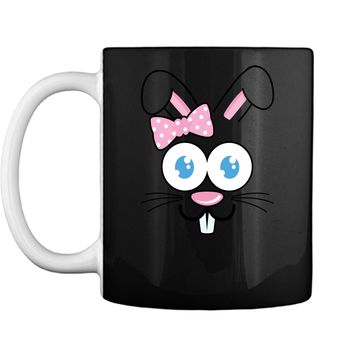 Easter Bunny TShirt Funny Happy Easter Bunny Face Rabbit Bow Mug