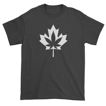 Canadian Maple Leaf with Pot Leaf Mens T-shirt