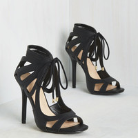 My Loops are Sealed Heel in Black | Mod Retro Vintage Heels | ModCloth.com