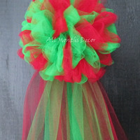 Two Color Tulle Half Pom Bow