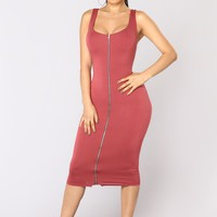 Discovered Tank Dress - Marsala