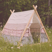 Kids Ruffle Teepee Tent - made to order
