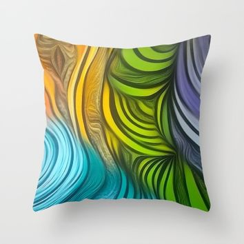 CHRISTONS MAZE Throw Pillow by violajohnsonriley