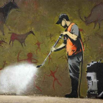 Banksy Wall Washer Poster 11x17