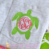 Turtle Monogram Short Sleeve Pocket T-shirt