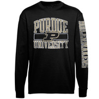 Purdue Boilermakers Alta Gracia :Fair Trade: Manuel Long Sleeve T-Shirt – Black