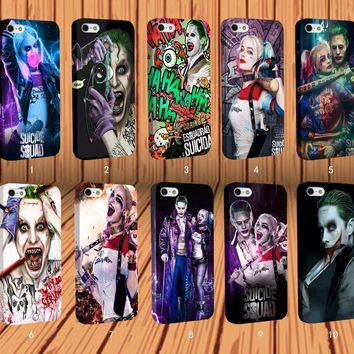 Suicide Squad Harley Quinn Joker Jared Leto for Apple iPhone Samsung Galaxy Case