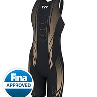 TYR Women's Credere Compression Open Back Speed Suit at SwimOutlet.com - Free Shipping