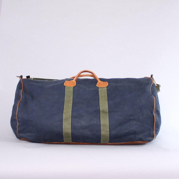 vintage 80s ll bean duffle bag 1980s from