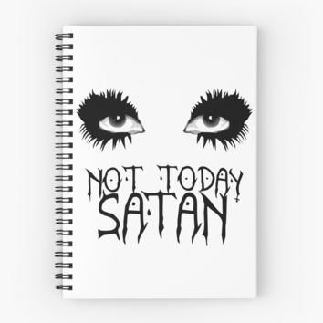 'Not Today Satan - Bianca Del Rio' Spiral Notebook by vixxitees
