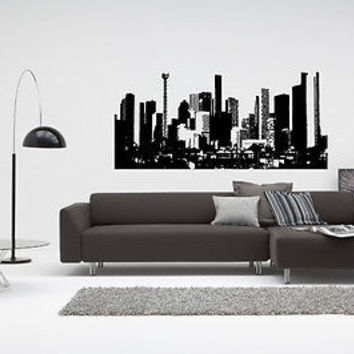 Houston Skyline City Sights Wall Sticker Decal 2509