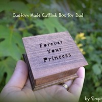 Cufflink box, father of the bride gift, forever your princess, wedding