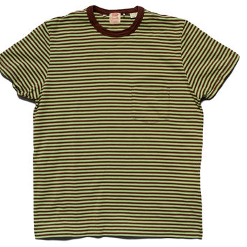 Levis Vintage Clothing Casual Stripe Chocolate Mint