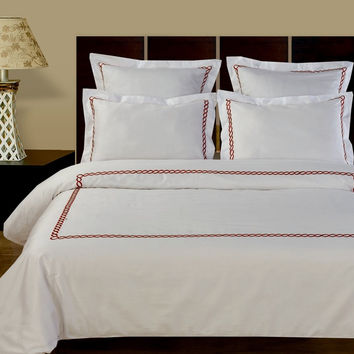 Amy Embroidered 10PC Combed cotton Bed in A Bag
