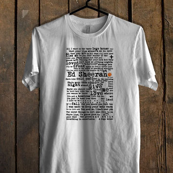 Ed Sheeran art print T Shirt Mens T Shirt and Womens T Shirt *