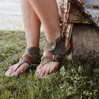 Belted Fold-Over Bootie Sandal
