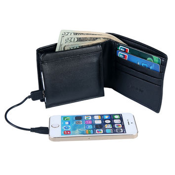 Black M|M Mens Charging Wallet