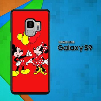 Baloon Love Mickey Minnie Mouse V1574 Samsung Galaxy S9 Case
