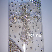 Bling  cross iPhone 4S iphone 5 made with Swarovski Diamond Crystal