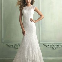 Allure Bridals 9119 Lace Keyhole Wedding Dress