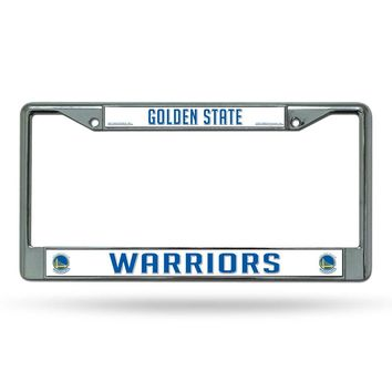 Golden State Warriors Chrome License Plate Frame