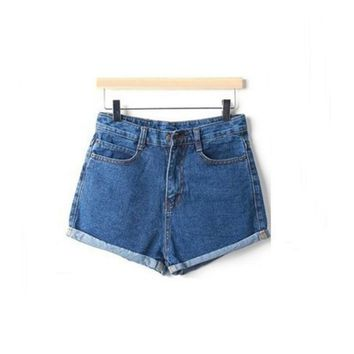 WJ 2017 Fashion Denim Shorts Women Femme Crochet Hook Jeans Summer High Waist Stretch Slim Feminino Brand Summer Plus Size