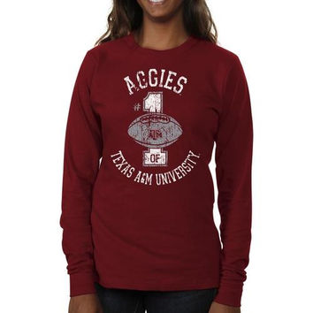 Texas A&M Aggies Ladies Genuine Article Long Sleeve Slim Fit T-Shirt - Maroon