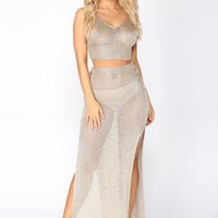 Lovin' On You Skirt Set - Mocha