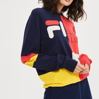 Fine Gauge Colour Block Knitted Jumper by FILA