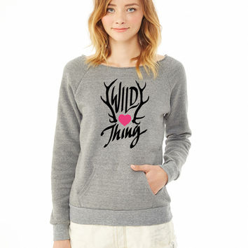 Wild Thing (Antlers) ladies sweatshirt