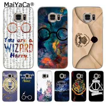 MaiYaCa Phone Case Harry Potter Design Coque Shell Phone Case  for Samsung S5 S6 S7 Edge S8 Plus S6 Edge Plus S3 S4