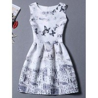 Sleeveless Castle Butterfly Sundress