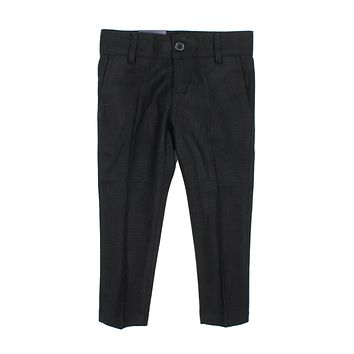 Armando Boys' Skinny Fit Black Textured Pant