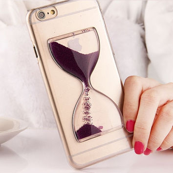 Cute Crystal Clear Dynamic Liquid Glitter Sand Quicksand Case For iPhone 6 4.7