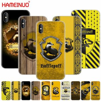 HAMEINUO Harry Potter Hufflepuff Badger cell phone Cover case for iphone X 8 7 6 4 4s 5 5s SE 5c 6s plus