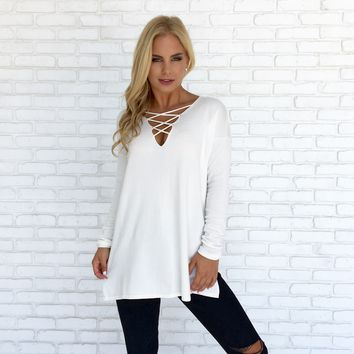 Late Night Crossing Sweater in Ivory