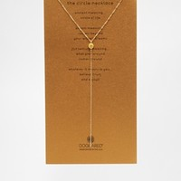 Dogeared Gold Plated Circle Long Y Necklace
