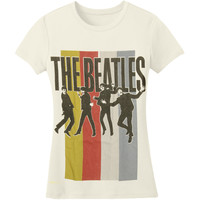 Beatles  Stripes Standing Group Girls Jr Ivory Rockabilia