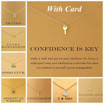 Gold Shorts Clavicle Chains Fashion Necklace 18k