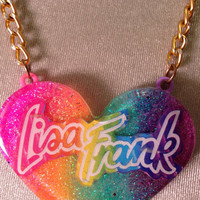 Lisa Frank Rainbow Penant Necklace