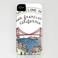We Belong in San Francisco iPhone Case by Brooke Weeber | Society6